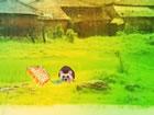 In diesem Fluchtspiel, einer Mutterkuh, die in diesem Dorf vom Virus betroffen