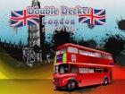 Parken eines Doppeldecker-Bus auf den Straßen von London erweisen sich um ein