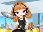 OMG! Drummer Girl, bekannt auf einem riesigen T...