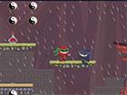 Dunkler Ninja ist ein Held, der das Dorf der Felsen überqueren und die rot