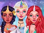 Begrüße ein brandneues Fantasy-Spiel, in dem du 3 magische Damen tri