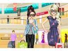 Wenn Sie mit einem Freund einkaufen gehen, neigen Sie dazu, sich verkleiden sic