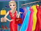 Registriert Elsa in der dress-up room! Sie hat elegante Kleider, Schuhe mit hoh