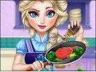 Elsa kocht! Die Eiskönigin Ihre Hilfe in der Küche braucht, sie weiß, dass S