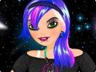 Sie ist ein futuristisches emo Mädchen, das werde den Rest des Universums zu e
