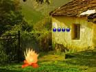 In diesem Fluchtspiel hat jemand eine Truthahnfamilie im Dorf gefangen. Keiner