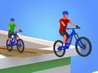 Hier ist ein einfaches Fahrrad-Simulationsspiel mit 3D-Fahrrädern und Ramp