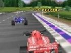 Rennen in der Formel 1 Grand Prix mit dem Auto. Rennen gegen die anderen Autos