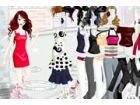 Verkleiden Sie sich dieses Mädchen mit bunten Kleid Outfit Sammlungen.