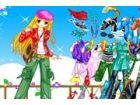 Das Anime-Mädchen mit schönen Kleidern verkle...