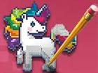 Farbpixel Kunst Klassischeist ein lustiges, pixeliges Färbungsspiel,