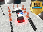 FBI Auto Parken ist ein volles Arsenal der Gefangene zu jagen. Polizeiwagenjagd