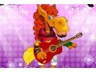 Spielen dieser Fun rock Stern Pferd und verkleiden sich diese super Rock-Star!