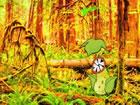 In diesem Fluchtspiel hat jemand einen Zuckersegler in diesem Wald gefangen. Si