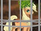 Flucht Pony aus Buschwald ist ein gewagtes P...