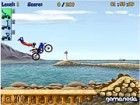 Ein süßes Spiel Motorrad-Stunts über Sprünge durchzuführen, wie Sie auf je
