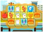 Ein dreifaches Mahjong-Spiel mit Meeresthema. Sie können nur drei gleiche