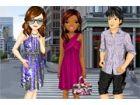 Diese Freunde gehen in der Stadt-Mall, zu erfü...