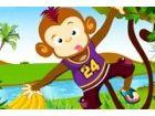 Die funky Affe ist die beliebtesten Tier der Zoo! Er ist sehr klug und verspiel