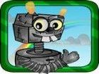 Verrückte Roboter erreichen will sky.It können nicht fliegen, aber es kann bi