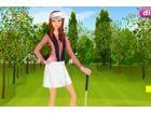 Dieses Mädchen ist vor kurzem in der Liebe mit Golf fallen. Sie liebt das Gef�