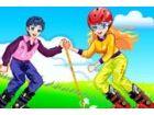 Gras Skifahren ist ein aktiver Sport. Und es wird Liebhaber Emotion erhöhen. G