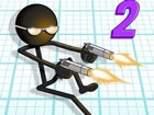 Gun Fu: Stickman 2 offizielles Online-Spiel. Übernimm mit einer Pistole in