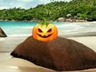 In Halloween Kürbis StrandFluchtspiel bist du gekommen, um die Sch&o