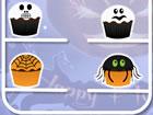 Anna, die intelligente Mädchen, wirft ein Halloween Cupcake Party auf Hall