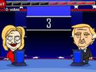 Treten Sie Donald J. Trump und Hillary Clinton bei ihrer lustigen Präsiden