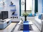 Ein Fluchtspiel, das Sie in ein hellblaues Wohnzimmer führt. Das Spiel ist