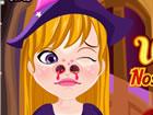 Dieses entzückende Hexenmädchen hat einige große Naseprobleme u