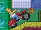 Fahren Sie sorgfältig Ihr Fahrrad ohne umzukippen. Packen Sie Duff Bär und ac