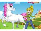 Geben Sie das Mädchen hübsch kleiden und Design ein Glanz-Pony für sie.