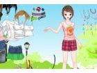 Mädchen in ihre Sommer-Kleider.