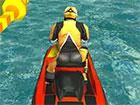 Mach mit bei der wahnsinnigen Fahrt auf dem Wasser. Kühlen Sie ab und besi