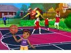 Aidan spielt Basketball von einem sehr jungen Alter, und er ist bereit, dem Bas