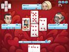 Die besten Kartenspieler des Königs haben Sie zu einer Partie Herzen herau
