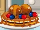 Scramble durch die Küche, um einen leckeren Pfannkuchen oder Cupcakes oder ein