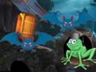 Ein klagender Frosch lebte in einem Palast im schrecklichen Dorf. Der klagende