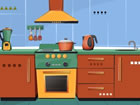 Klassische Küche Flucht ist ein spannen...