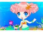 Unterwasser Prinzessin Arielle die Meerjungfrau ist eine Party auf ihrem Schlos