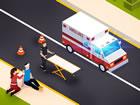 Krankenwagen Simulator 2021 ist ein lustiges Top-Down-Simulationsspiel, in dem