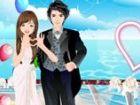 Dieses süße Paar hat ihre Hochzeit auf einem fabelhaften Schiff. Bitte helfen