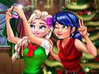 Ladybugund ihre beste Freundin Elsa verbringen dieses Jahr gemeinsam Weih