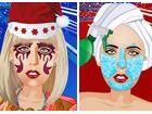 Die stilvollen Pop-Sängerin Lady Gaga hat einen Auftritt für die Weihnachtsze