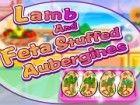 Lamm und Feta gefüllt Aubergine ist ein griechisches Gericht und ich bin siche