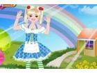 Spielen Sie ein lustiges Spiel mit einem kleinen niedlichen Mädchen, in denen