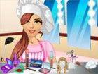 Dieses Mädchen arbeitet als Koch in einem fein...