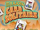 Mahjong Solitaire mit einem Bild von einem Solitaire-Kartenspiel. Spiele alle 1